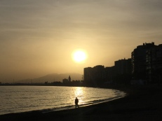 gorgeous sunset in Malaga