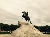 Bronze horseman near St Isaac's