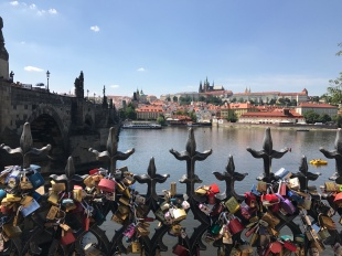 Love locks near the Charles bridge
